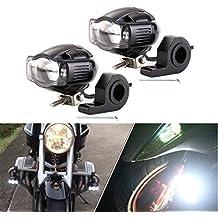 FEZZ Faro Moto COB LED Luz de Niebla Motocicleta Con Cargador USB Barra de soporte para Jeep Hummer Harley Yamaha Motors 20W 9-85V
