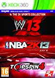 NBA 2K13 + WWE 13 + Top Spin 4