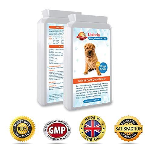 Suplementos para la piel del perro con prurito  Cápsulas de aceite de...