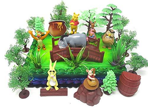 Winnie Puuh Deluxe Kuchendekorations-Set mit Bär und Freunden Figuren und dekorativen Themenaccessoires (Pooh Stein)