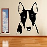 azutura Bullterrier Hund Wandaufkleber Tiere Haustiere Wandtattoo Hundepflege Wohnkultur verfügbar in 5 Größen und 25 Farben Mittel Schwarz