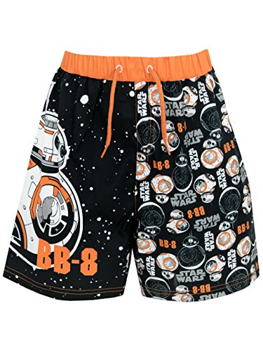 Star-Wars-Boys-Star-Wars-BB8-Swim-Shorts-Ages-5-to-12-Years