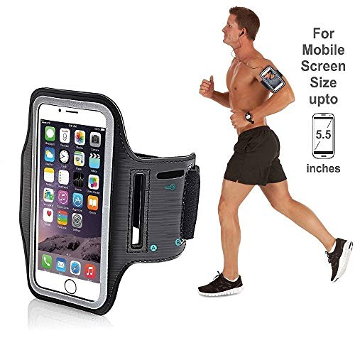 HUMBLE Sports Arm Belt with Adjustable Workout Band for Gym Running and Jogging Exercise Gym Activities Case for Mobile (Black)