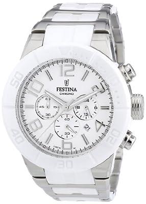 Festina F16576/1 - Reloj cronógrafo de cuarzo unisex con correa de acero inoxidable, color multicolor de Festina