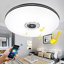 Elinkume 32W AC220V 1760 Lumen Bluetooth Mobil Stufenloses Dimmen LED Deckenleuchten Musik Lichter