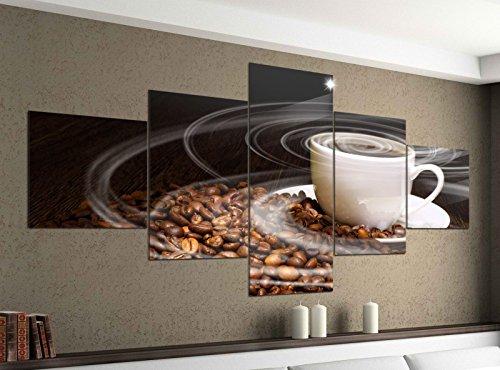 Acrylglasbilder 5 Teilig 200x100cm Kaffee Tasse Coffee Bohnen Küche Druck Acrylbild Acryl Acrylglas Bilder Bild 14F214, Acrylgröße 11:Gesamtgröße 200cmx100cm