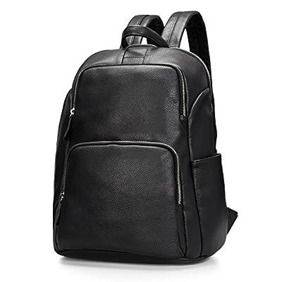 Estarer Sac à dos Cuir Femme Noir Sac porté dos à Main Anti-rayure Sac Scolaire Fille Backpack pour Losirs Ecole et Travail