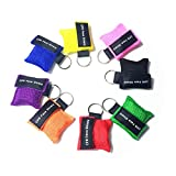 VADOOLL 8pcs CPR Maske Schlüsselbund Ring Emergency Kit Rescue Face Shields mit Einwegventil Breathing Barrier für Erste Hilfe oder AED Training, Erwachsene und Säugling, einfach zu Tragen