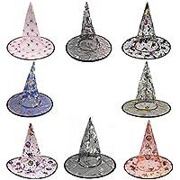 WasonD 4 Pezzi Halloween Cappello da Strega Carnevale Festa Stregoni  Cappellini Costumi Accessorio per Adulto Bambini 0ab1ed9e9071