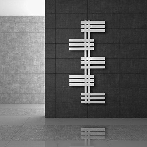 Design Panneau Radiateur sèche-serviettes Électrique 600W 600 x 1000 mm Blanc