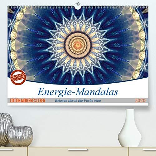 Energie-Mandalas in blau(Premium, hochwertiger DIN A2 Wandkalender 2020, Kunstdruck in Hochglanz): Editionskalender Energie-Mandalas in blau von Christine Bässler (Monatskalender, 14 Seiten )