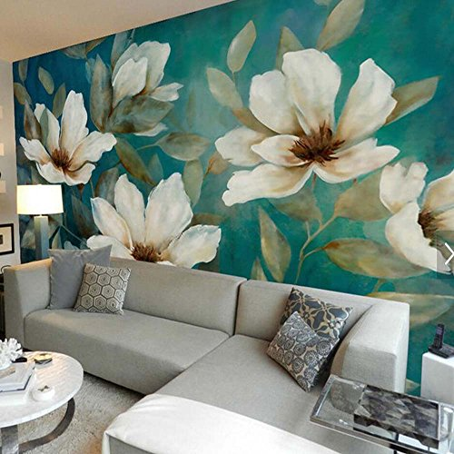 Yosot carta da parati floreale 3d parete in rilievo murale di carta fotografica hd rivestimenti murali dipinti murali stampato roll per living room bedroom wall art decor-140cmx100cm