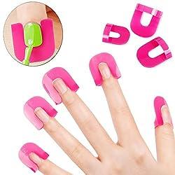 iTemer 26Pcs Manicura permanente Establecer manicura Esmaltes permanentes para u as Rosa