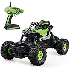 Gizmovine 1/16 Coche Teledirigido RC Car Off-road Rock Crawler 2.4GHZ 4WD 4 Modos de Dirección Splash Impermeable Coche Escalada