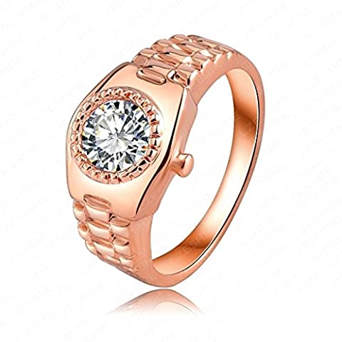 AMDXD Jewelry Gold Plated Engagement Rings for Women Watch Shaped