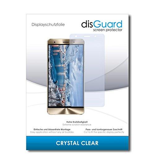 disGuard® Displayschutzfolie [Crystal Clear] kompatibel mit Asus Zenfone 3 Deluxe ZS550KL [2 Stück] Kristallklar, Transparent, Unsichtbar, Extrem Kratzfest, Anti-Fingerabdruck - Schutzfolie