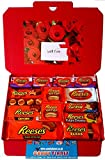 Reese's Hearts Hamper | American Candy Peanut Butter Chocolate Selection Box | Wedding Favours | Girlfriend Boyfriend Wife Husband Mothers Day Fathers Day Present | Large 32cmx23cm | Hamper Exclusive to CANDYPLANET