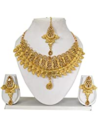 Vipin Store Golden Color Stone And Kundan Gold Plated Jewelery Set