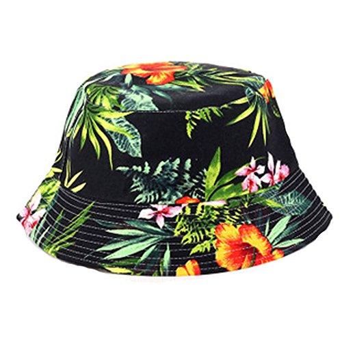 Fischerhüte Sommerhut für Damen, faltbar, Leinen, breite Krempe Pusheng