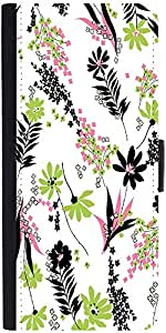 Snoogg White Leaves Pattern 2479 Designer Protective Phone Flip Case Cover For Redmi 2 Prime