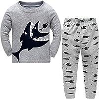 DAWILS Boys Pyjamas Sets Shark 100% Cotton Toddler Kids Pjs, Grey, 4-5years