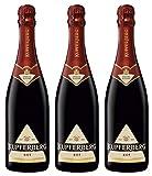 KUPFERBERG Gold Sekt Rot Halbtrocken (3 x 0.75 l) ǁ prickelnder & klassischer Sektgenuss ǀ zum Anstoßen & Feiern ǀ für jeden Anlass der richtige Sekt