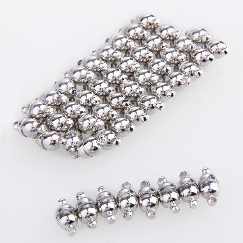 Ecloud Shop 50X Magnetverschluss Magnet Verschluss Kettenverschluss CHARMS