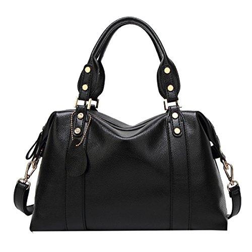 Yy.f Cuoio Impresso Nuovo Borsa A Tracolla Moda Mamma Bag Messenger Borse Estrinseca La Moda Intrinseca E Pratico Multicolore Black