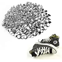 CLE DE TOUS - 100pcs Tachuelas Remaches Punk para Bolsa Calzado Zapatos 8mm Color Plateado