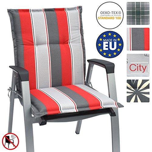 Beautissu cuscino per sedie da giardino loft nl 100x50x6cm - comodissima imbottitura - made in eu - havana