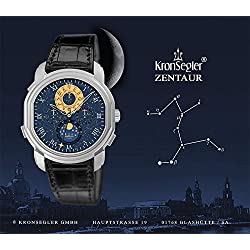 Kronsegler Zentaur Calendar Watch steel - nightblue