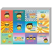 Creanoso Motivating Word Happy Face Stickers (10-Sheet) û Inspiring Encouraging Joyful Words Wall Stickers Assorted Set û Gift Rewards Ideas for Boys, Girls, Kids û Parents Teachers Incentives