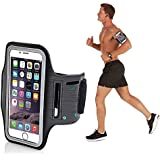 Techonto Armband, Sports Armband, Sports Arm Belt with Adjustable Workout Band for Gym Running and Jogging Exercise Gym Activities Case for 5.5 inch Mobile- Black