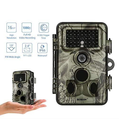 XINCH-MONITOR Hinterjagd Kamera Mini Wild Hunting Cam mit 16MP 1080P, 2,4 \