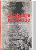 Vocabulaire juridique - Presses Universitaires de France - PUF - 01/12/1990