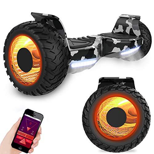 GeekMe Off-Road Hoverboard Elektroroller 8.5 \'\' SUV Hummer Gelände intelligenter Self Balance Scooter Fantastische LED-glühende Räder mit Bluetooth-Funktion