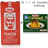 Harnik Phantom Sweet Cigarette Candy - Pack Of 24 With Caramel Pudding Mix