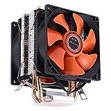 CHENCHUAN Computerkomponenten CoolAge AMD CPU Kühlkörper Hydrauliklager Lüfter Doppel Lüfter 3 Pin for Intel LGA775 115X AM2 AM3 AM4 FM1 FM2 1366 CPU-Lüfter