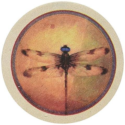 Thirstystone TS2129 naturel Coaster Set Gr-s Dragonfly Parchemin
