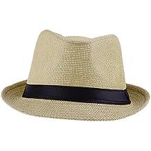 EOZY Sombrero De Sol/Paja/Playa/Panama/Gorra Deporte Para Hombre Mujer Marrón