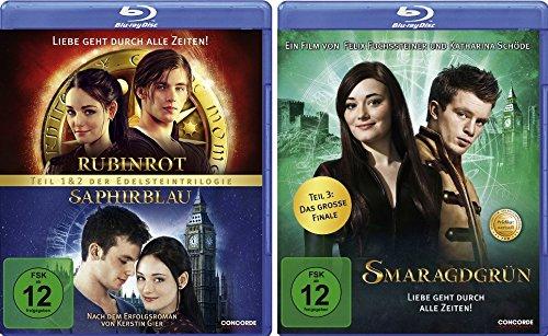 Rubinrot / Saphirblau + Smaragdgrün im Set - Deutsche Originalware [3 Blu-rays]