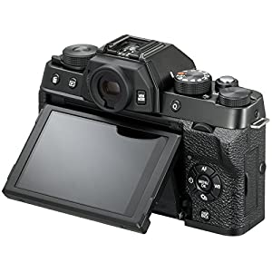 Fujifilm X-T100 Digital Camera Body (Black) with 64GB Card + Battery & Charger + LED Video Light + Microphone + Flash + Case + Tripod + Kit