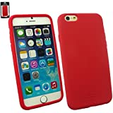 """Emartbuy® Apple Iphone 6 6G 6S 4.7 """" Zoll Silicon Hülle Schutzhülle Case Cover Rot"""