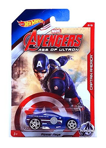 HOT WHEELS MARVEL AVENGERS AGE OF ULTRON CAPTAIN AMERICA POWER RAGE 2/8 by Hot Wheels