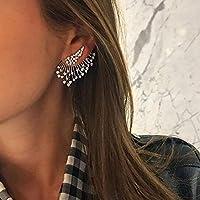SSEHXL earring Statement Crystal Stud Earrings Set For Woman Punk Rock Vintage Jewelry Dazzling