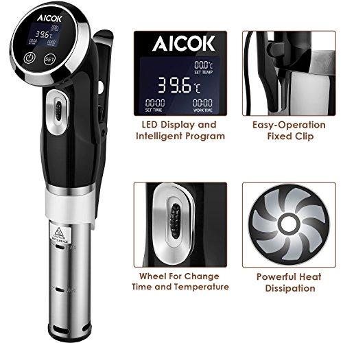 Aicok Sous Vide Garer – Quickstick Sous Vide Stick – Sous Vide Präzisionskochtopf Immersion Zirkulator - 3