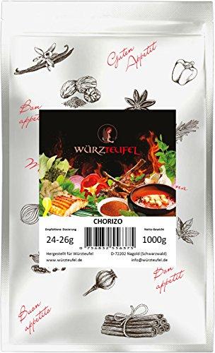 Chorizo – Gewürz, original spanische Gewürzzubereitung mit geräuchertem Paprika zur Herstellung von Chorizo – Salami. Beutel: 1000g. (1KG)