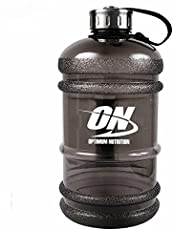 Optimum Nutrition Water Bottles With Stainless Steel Cover Large Capacity Handle Portable Water Bottles For Outdoor Sports (2.2 Liter)