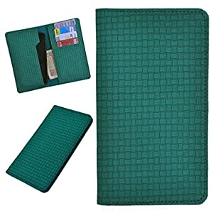 DCR Pu Leather case cover for Lava Iris 500 (green)