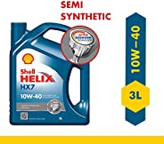 Shell Helix HX7 10W-40 API SN Semi Synthetic Engine Oil for Petrol, Diesel & CNG Cars (
